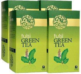 LaPlant Tulsi Green Tea - 100 Tea Bags (Pack of 4)