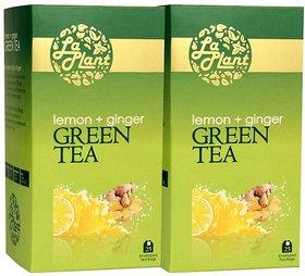 LaPlant Lemon and Ginger Green Tea - 50 Tea Bags (Pack of 2)
