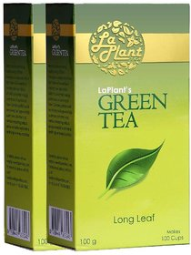 LaPlant Green Tea, Long Leaf - 200g (Pack of 2)