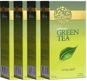 LaPlant Green Tea, Long Leaf - 400g (Pack of 4)