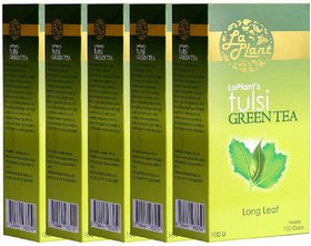 LaPlant Tulsi Green Tea, Long Leaf - 500 gm (Pack of 5)