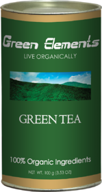 Green Elements - Organic Green Tea, Long Leaf, 100 g