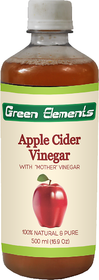 Green Elements - Apple Cider Vinegar (Raw, Unprocessed and Unrefined) with Mother Vinegar, 500ml