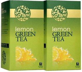 LaPlant Lemon Green Tea - 50 Tea Bags (Pack of 2)