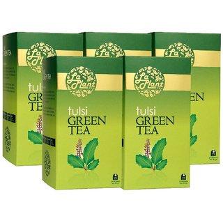 LaPlant Tulsi Green Tea - 125 Tea Bags (Pack of 5)