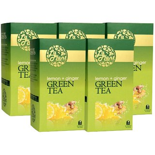 LaPlant Lemon  Ginger Green Tea - 125 Tea Bags (Pack of 5)