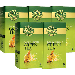 LaPlant Honey  Lemon Green Tea - 125 Tea Bags (Pack of 5)