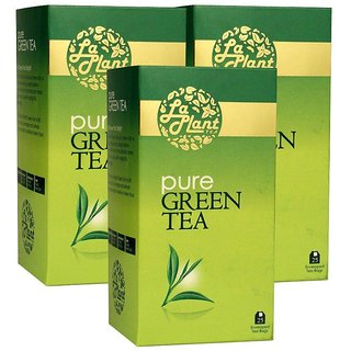 LaPlant Pure Green Tea - 75 Tea Bags (Pack of 3)