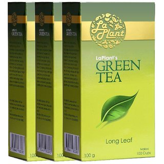 LaPlant Green Tea, Long Leaf - 300g (Pack of 3)