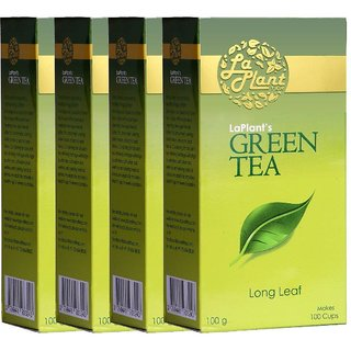 LaPlant Green Tea, Long Leaf - 400g (Pack of 4)