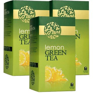 LaPlant Lemon Green Tea - 75 Tea Bags (Pack of 3)