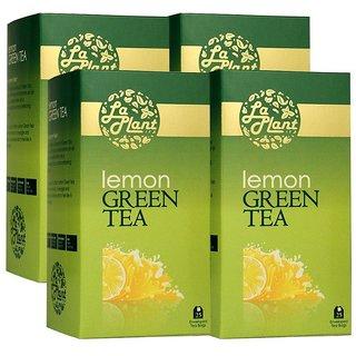 LaPlant Lemon Green Tea - 100 Tea Bags (Pack of 4)