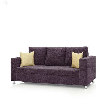 Comfort Couch Fully Upholstered Three-Seater Sofa - Premium Valencia Purple