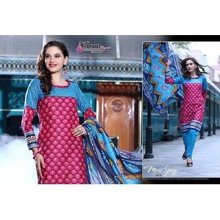 Moti Jai Ganesh Printed Pure Cotton Designer Salwar Suit Dress Material JTMGV12-1215