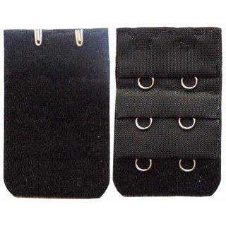 AAYAN BABY Black 2 Hook Bra Strap Extender (Pack of 1)