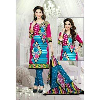Colours Printed Pure Cotton Designer Salwar Suit Dress Material JTCV6-6005