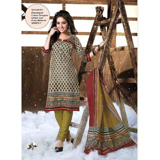 Sonakshi Boutique Designer Cotton Suit SB8012