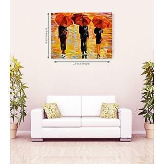 Art Handmade Rain Canvas Painting