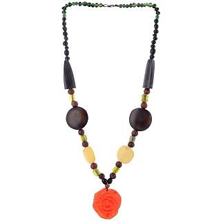 The Roots Brown Resin Necklace for Women (Root-0031)