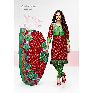 Cotocode fancy Cotton Unstitched Salwar Suit Dress Material JTCCV14-8366