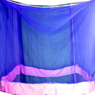 shiv blue mosquito net for double bed babby,men,women etc 6.56.5