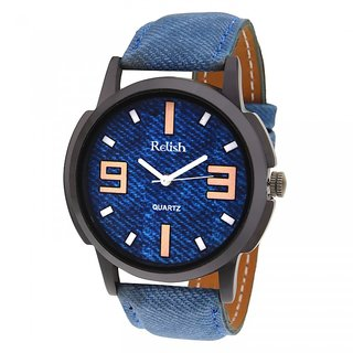 Relish Analog Blue Dial Watch For Men- RELISH-487