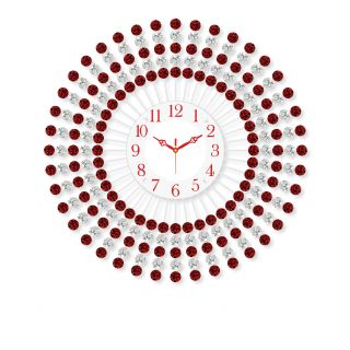 Treasure trove Iron with crystals wall clock