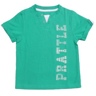 Prattle Boys Cotton T-Shirt Half Arm (Aqua Green)
