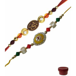 Laviva ROB14949 Fabulous Combo of OM  Fancy Rakhi