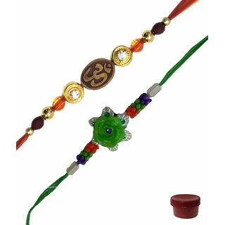 Laviva ROB14951 Fabulous Combo of OM  Fancy Floral Design Rakhi