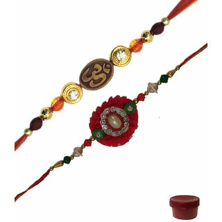 Laviva ROB14957 Charming Fancy Rakhi Set of Two