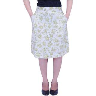 white printed skirt(glsktoki2)
