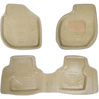 Autofit Plastic Car Mat For Honda City (Beige)
