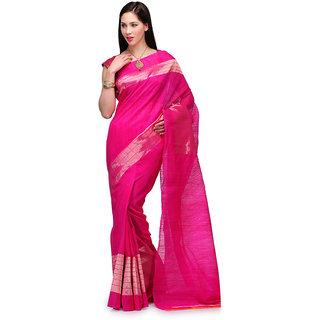 Magenta Matka Silk Handloom Saree