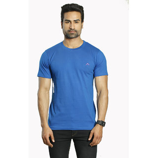 Round Neck Plain Blue T-shirt  for Man
