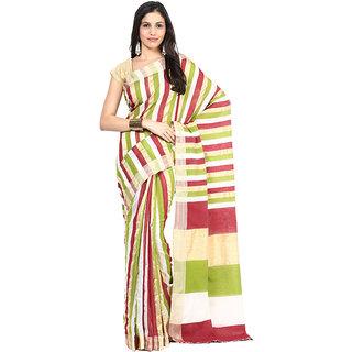 Multihued Striped Bengal Cotton Baha Saree