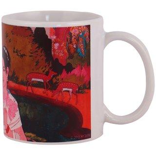 Arttantra ceramic coffee mug Ram seeta