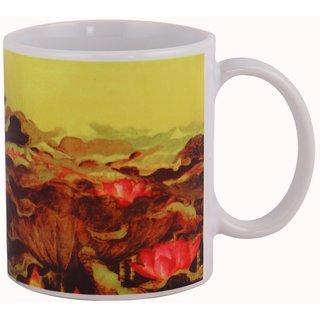 Arttantra ceramic coffee mug Lotus and the Sky