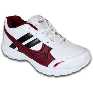 Smithwear White  Mehroon Sport Shoes