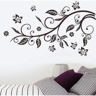 Wall Dreams Vector Art Floral Vines Wall Stickers (60cmX90cm)