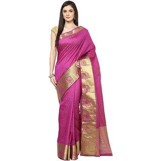 Purple Art Silk Saree With Zari Work