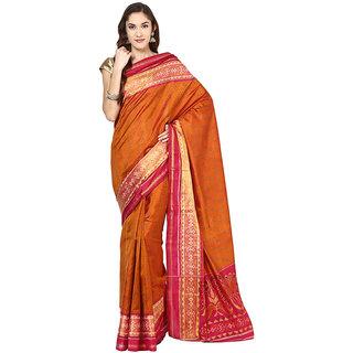 Brick Rajkot Patola Handloom Silk Saree