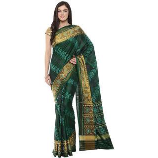 Green Rajkot Patola Handloom Silk Saree