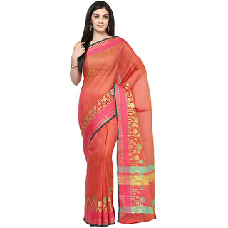 Magenta Banarasi Supernet Saree With Zari Work