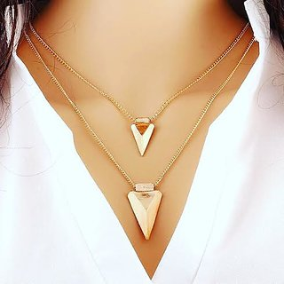Youbella Gold Plated Choker Necklace Set For Women