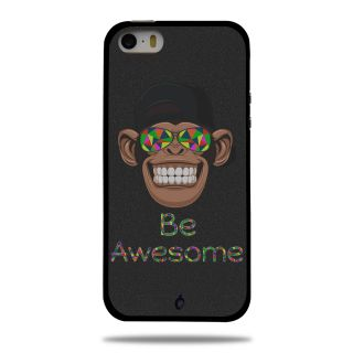 Cool Mango Printed Pudding TPU Back cover for Apple iPhone 5S / iPhone SE - Flexible Protection Case for iPhone 5S / iPhone SE (Be Awesome)