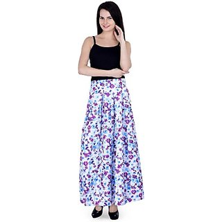 CHICFLIC Graphic Print Womens Pleated Multicolor Skirt