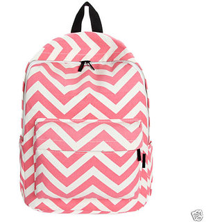Aeoss Preppy Style Women Backpack Bags Double-Shoulder Sweet Stripe Canvas Travel Bag (A261pnk)