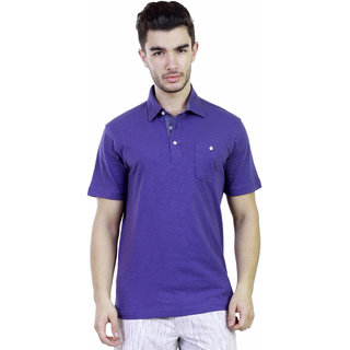 Caribbean Joe Mens Cloudless blue Island Polo T-shirt