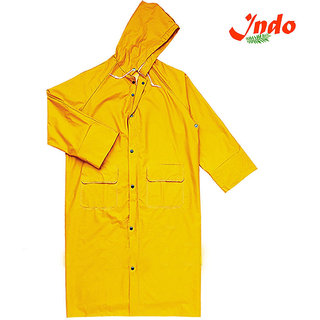 Indo Women Waterproof Long Rain Coat For Ladies with carry beg